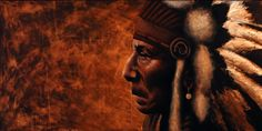 Jono Gooley's Chief oil painting #mildredco #artsake #indianchief #expression