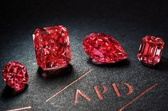 Four fancy red diamonds from the 2014 Argyle tender