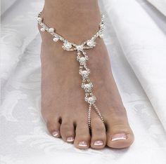 fotsmycke bröllop pärlor ide tips inspiration pyssel dekoration