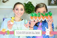 Love these three egg ideas! #Easter #eastereggs #diy #tutorial #brooklynandbailey #youtube