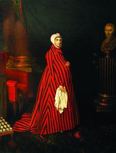 """""""Praskovia Kovalyova"""", 1803, by Nikolai Argunov (Russian, 1771-1829). Love the bold striped maternity robe."""