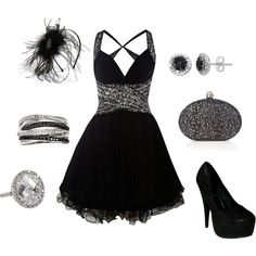 Cute New Years outfit if you had someone dressy to wear it :)