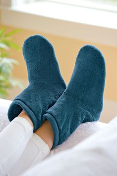 Warm Up Boots | Chenille Slipper Boots Filled with Flaxseed and Rice