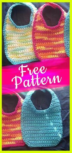 Crochet baby bibs