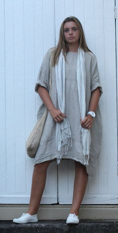 Linen Dress MegbyDesign Dress Outfits, Cool Outfits, Summer Outfits, Dresses, Holiday Clothes, Holiday Outfits, Older Style, Magnolia Pearl, Frocks