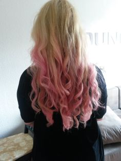 My Pink Ombre Hair.