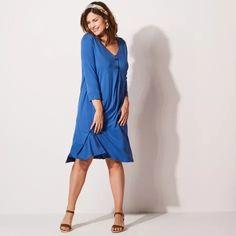 Široké úpletové šaty | blancheporte.sk #blancheporte #blancheporteSK #blancheporte_sk #moda #fashion #exkluzivni #exclusive Dresses For Work, Fashion, Moda, Fashion Styles, Fashion Illustrations