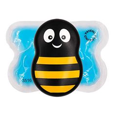 Buzzy Mini Personal Striped Vibrating Ice Pack – Non Invasive Pro Cold Pad Device for Single Patient Home Injections, First Aid, Itching – Home Use Tool for Diabetes, Needle Pain Relief Diabetes, Buzzy Bee, Natural Pain Relief, Unique Baby Shower Gifts, Used Tools, Phobias, Shark Tank, First Aid, Home
