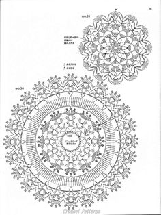 ☕ ☕ Porta -Copos em Crochê de Flores - / ☕ ☕ Beverage Coasters at Crochet of Flowers - ISSUU - Crochet motif by vlinderieke Crochet Patterns and A Great Love of Doilies. This Pin was discovered by oms ru / Фото - Still like motif - Irina-mai Filet Crochet, Mandala Au Crochet, Crochet Doily Diagram, Crochet Circles, Crochet Doily Patterns, Crochet Round, Crochet Chart, Crochet Squares, Thread Crochet