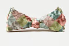 multicolor diamond freestyle bow tie by dotandace on Etsy, $30.00