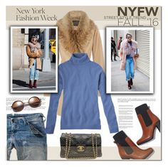 """""""Day 2: NYFW Street Style"""" by rosie305 ❤ liked on Polyvore featuring moda, women's clothing, women, female, woman, misses, juniors y NYFW"""
