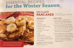 Banana pancakes with doTerra OnGuard essential oil.