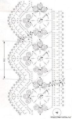 Crochet around edging Crochet Border Patterns, Crochet Lace Edging, Crochet Chart, Filet Crochet, Crochet Trim, Irish Crochet, Crochet Doilies, Crochet Flowers, Knit Crochet