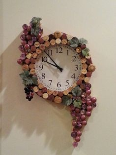 Wine Cork Clock