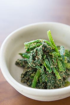 Japanese style spinach with sesame dressing. @Marc Matsumoto