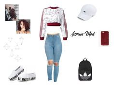 """""""Sin título #24"""" by wapayo ❤ liked on Polyvore featuring adidas Originals, Topshop, Missguided and Umbra"""