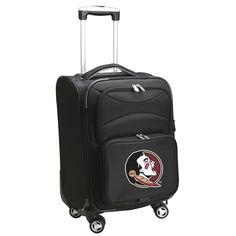 Ncaa Florida State 21 in. Black Carry-On Spinner Softside Suitcase