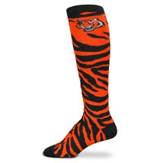 Cincinnati Bengals Women's Orange NFL Animal Print Knee High Socks