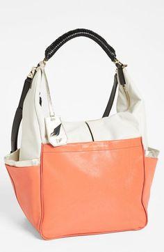 Diane von Furstenberg 'France - Colorblock' Leather Hobo, Large available at Nordstrom