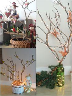 Árvore de Natal com galhos! :)