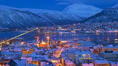 Norway Tromsö  Mørketid - fargetid - Blue light city (Photo: Bård Løken/ Visit Tromsø-region) www.netkaup.is