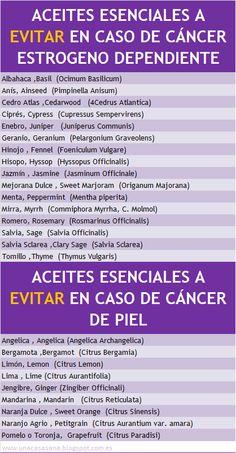Aceites Esenciales a evitar en caso de cáncer hormono dependiente o de piel- unacasasana.blogspot. com.es