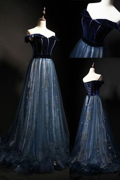 Elegant Off the Shoulder Velvet Floor Length Long Evening Dress Prom Dress Best Picture For Evening Dress maxi For Your Taste You are looking for something, and it is going to tell you exactly what yo Pretty Dresses, Sexy Dresses, Beautiful Dresses, Evening Dresses, Prom Dresses, Formal Dresses, Afternoon Dresses, Bridesmaid Gowns, Long Dresses