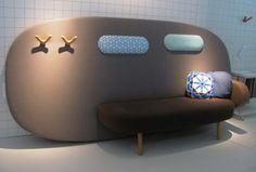 karim rashid rounds out float sofa for sancal Funky Furniture, Colorful Furniture, Furniture Design, Lamp Design, Sofa Design, Lighting Design, Design Design, Design Ideas, Library Shelves