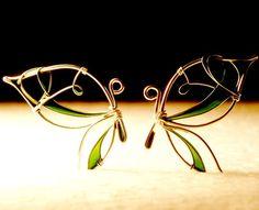boucle d'oreilles papillons