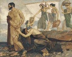 William Russell Flint - Homer's Odyssey, No. 6