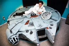 millenium-falcon-bed Dude. That's a bed. Anyone else have a sib who would die of sheer happiness if he got this?