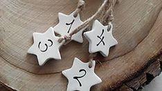 Dekorácie - adventné číslice na sviečky / hviezdičky - 7452401_