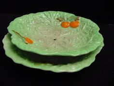 vintage Carlton Ware fruit dish on stand