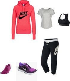 """""""Comfy Nike"""" by maddie-kibbee on Polyvore"""