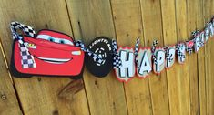 Premium Disney Pixar Cars Birthday Banner by TheCraftyGodMother