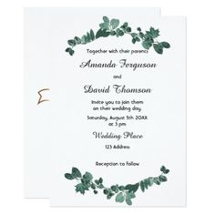 burgundy red navy floral rustic boho fan front card invitation