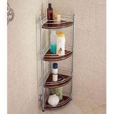 Fancy - Teak & Stainless Steel Shower Organizer