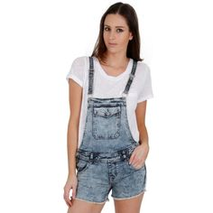 Retro Style Acid Wash Denim Dungaree Shorts #festivalfashion #overalls #shortalls