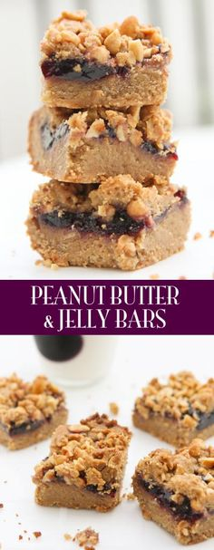 Peanut Butter and Jelly Bars - the classic PBJ meets dessert. Heavenly!