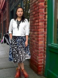 top- c/o price ministries, skirt - anthropologie,  boots- frye and got the necklace from one of the stalls in Phils #loveseattlerain#anthrofav#frye
