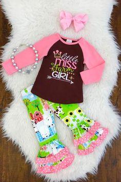 """""""Little Miss Farm Girl"""" Boutique Set"""