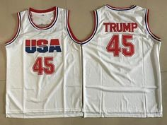 Nike Team USA #45 Donald Trump White The 45th president of the United States Stitched NBA Jersey