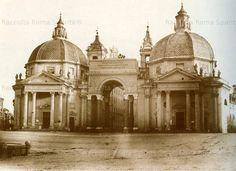 Arco eretto sulla Piazza del Popolo fra le due chiese nel solenne ingresso in Roma di Papa Pio IX Anno: 5 Settembre 1857