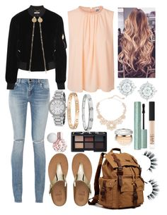"""""""School 38"""" by ella-goodness on Polyvore featuring Vero Moda, Yves Saint Laurent, Kate Spade, Michael Kors, Cartier, Mémoire, FitFlop, Givenchy, NARS Cosmetics and Christian Dior"""