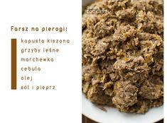 farsz na pierogi z kapustą Pierogi, Desserts, Food, Tailgate Desserts, Deserts, Essen, Postres, Meals, Dessert