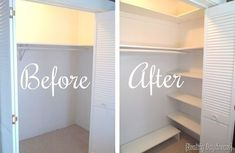 More click [.] Building Closet Shelves Built You Can Add So Much Extra Space To Your Closet By Just Adding Some Diy Shelving Reality Daydream Diy Custom Closet Shelving Tutorial Reality Daydream Building Shelves In Closet, Diy Closet Shelves, Small Closet Organization, Diy Shelving, Diy Organization, Small Closet Storage, Custom Shelving, Extra Storage, Small House Storage Ideas