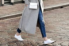 A Casual Chic Take On White Sneakers For Fall