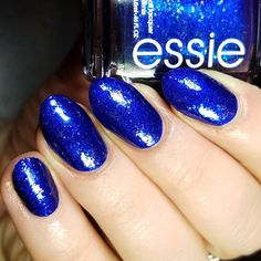 """Alison 🌻 on Instagram: """"Next from @essie Holiday 2019 Collection is Tied & Blue. Same formula as the last two... a frosty metallic with a squishy formula and a…"""""""