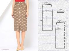 A straight skirt with button fastening at the waist. # simple models things # sewing # skirt pattern Source by cadsara Skirt Patterns Sewing, Blouse Patterns, Sewing Patterns Free, Free Sewing, Clothing Patterns, Pattern Skirt, Sewing Clothes, Diy Clothes, Pola Rok