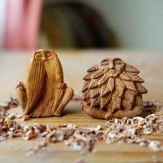 Avocado stone carving